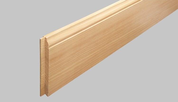 Plinthe style sans noeuds pin des landes 9x108 2m/PEFC 70%