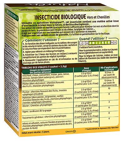 Insecticide biologique vers et chenilles Naturen 12 x 2,5 g