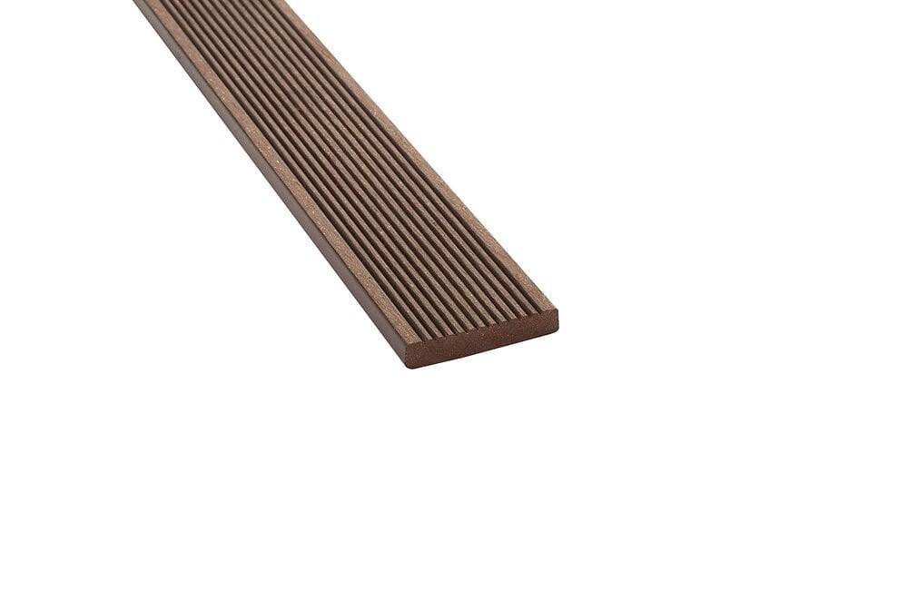 Bandeau de finition 200x5.5x1 cm Chocolat terrasse composite REVERSO