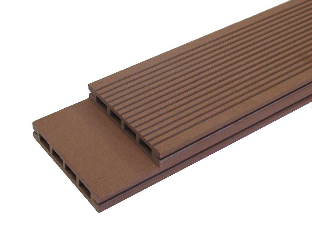 Lame terrasse composite 220x12x1.9cm Redwood SIGLO
