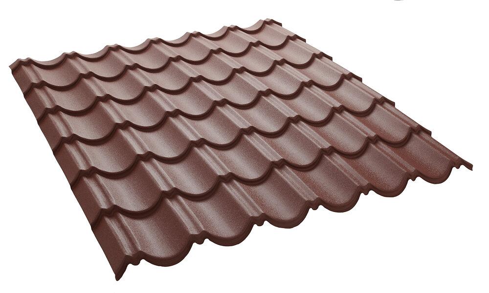 Panneau tuiles laqué mat brun rouge 1030x950mm