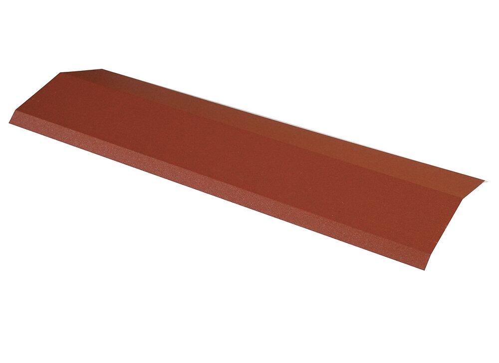 Faîtière pour panneau tuile laqué mat brun rouge 92cm