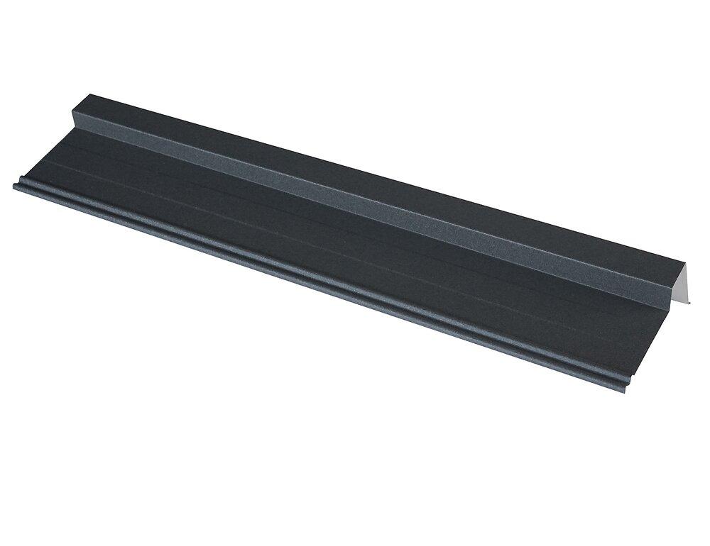 Rive pour panneau tuile laqué mat anthracite 92cm
