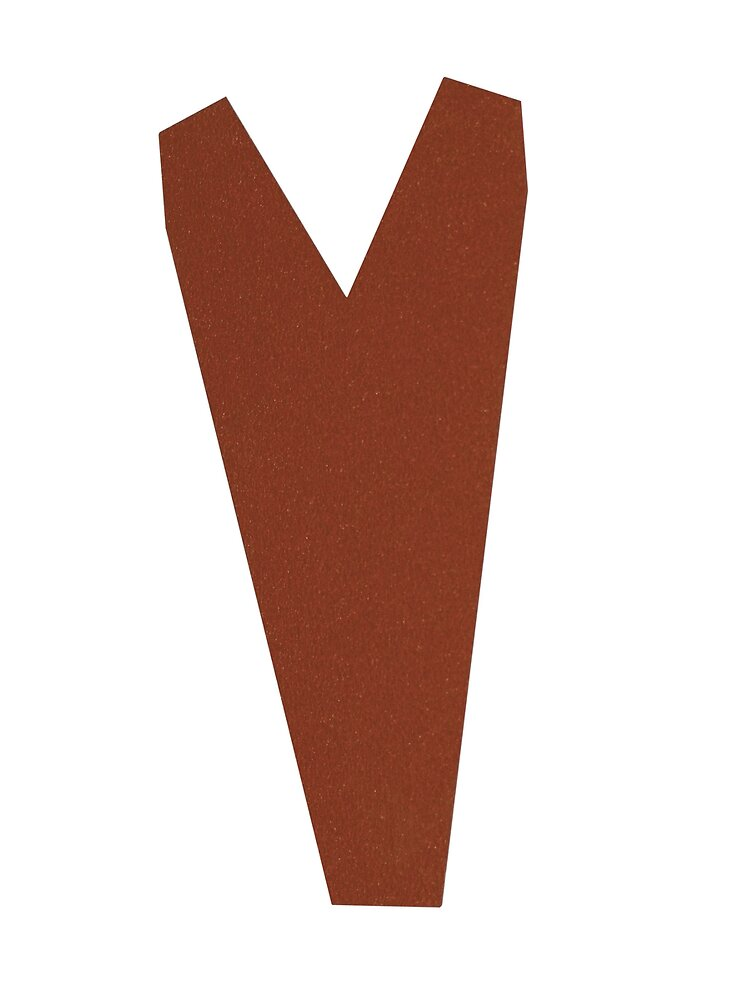 About faîtière pour panneau tuile laqué brun rouge