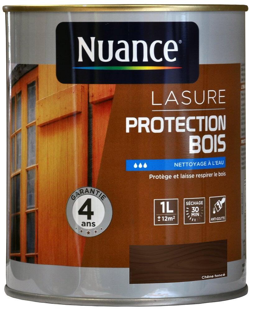 Lasure protection bois chêne foncé 1L