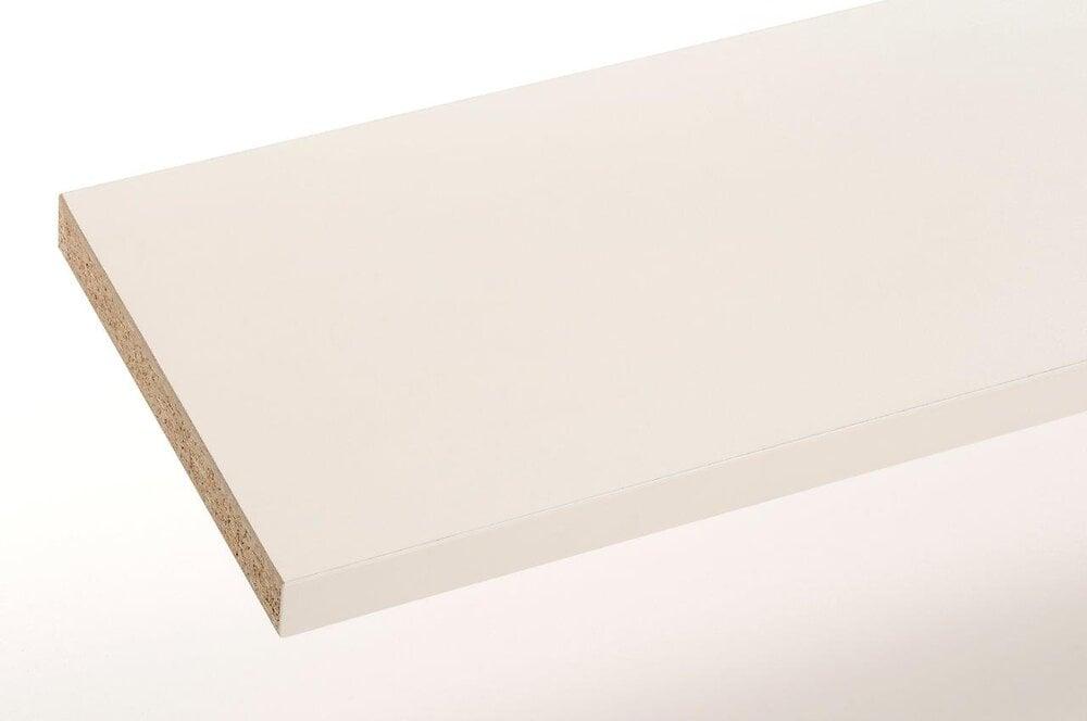 Plan de travail stratifié blanc 185x61x2.8