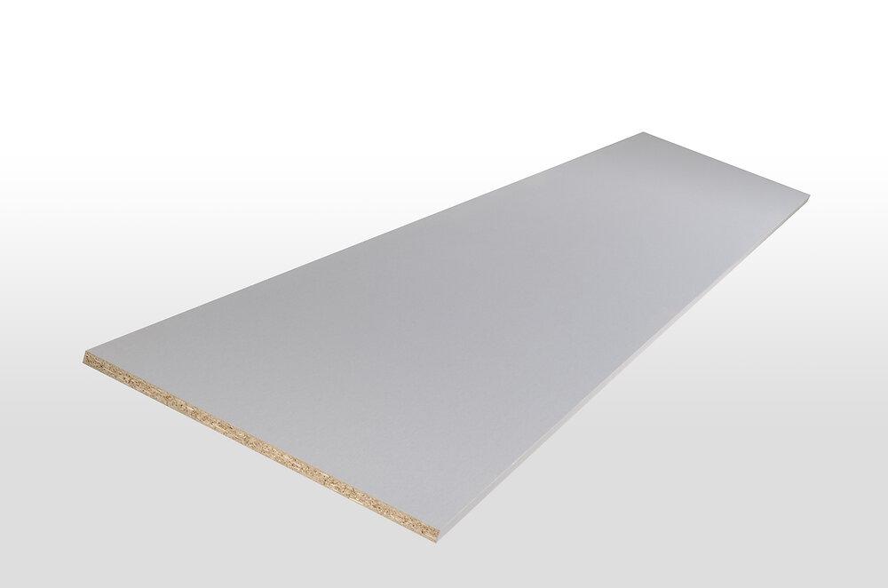 Tablette mélaminée aluminium platine 80x50x1.8
