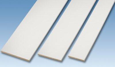 Tablette mélaminée blanche 250x50x1.8