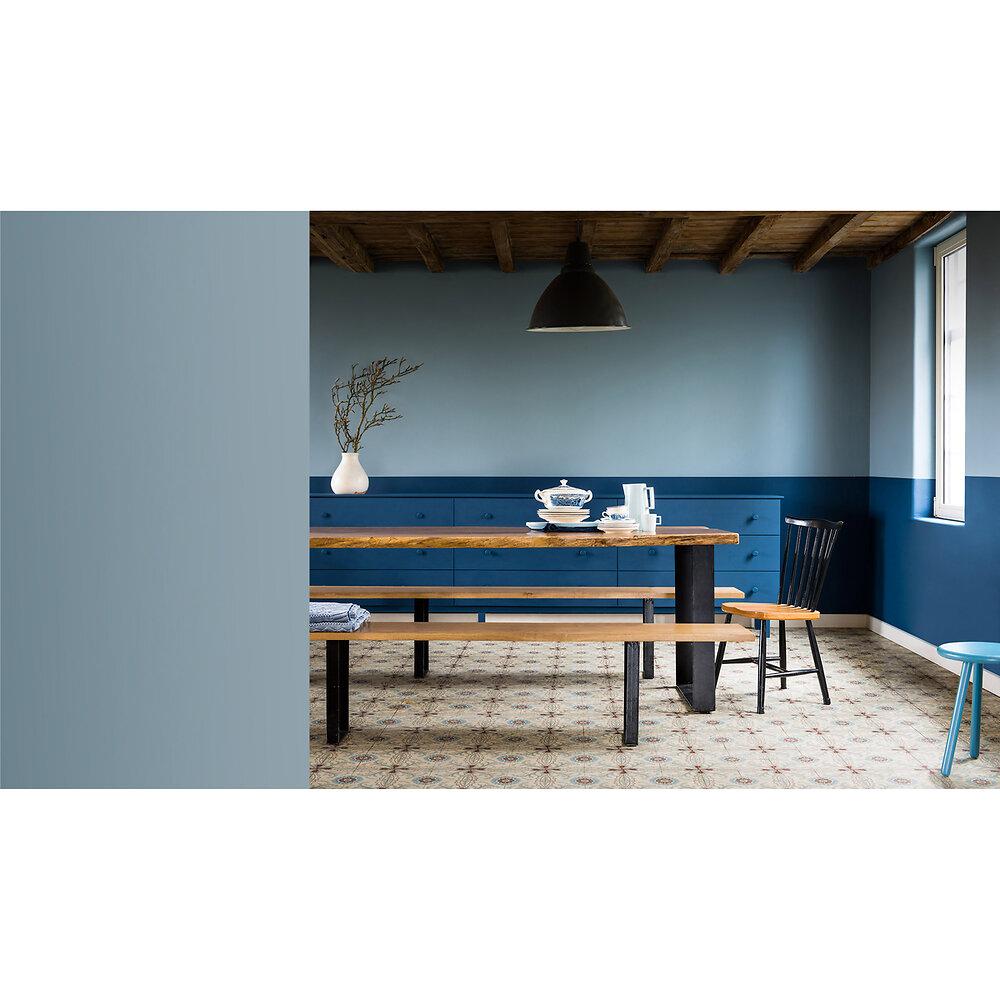 Peinture Crème de couleur MAT Bleu Gris 0.5L
