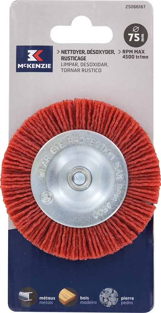 Brosse circulaire perceuse d.75x6mm nylon