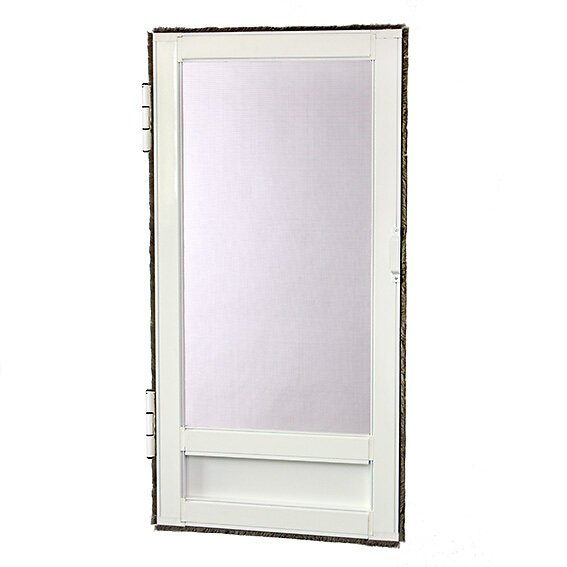 Moustiquaire porte battante L.230xh.100cm Aluminium blanc
