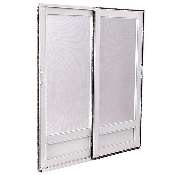 Moustiquaire coulissante L.240xh.240cm Aluminium blanc