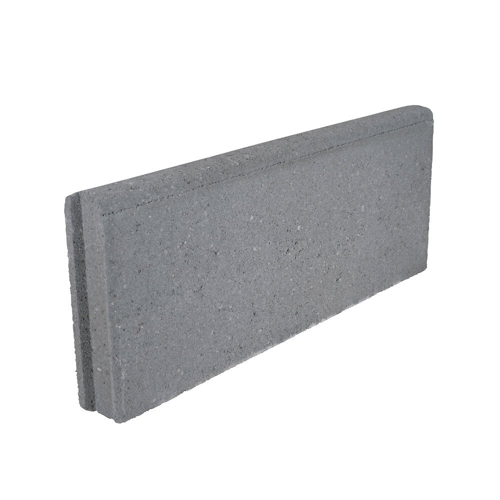 Bordure lisse de jardin 5x20x50cm - grise