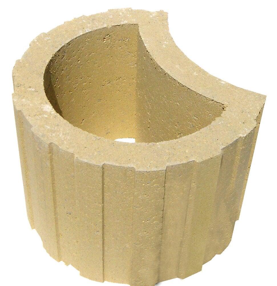 Mini talus couleur sable diamètre 33cm hauteur 24cm