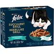 Aliment Chat adulte Succulent Grill, Sélection Poisson sachets 12x80g