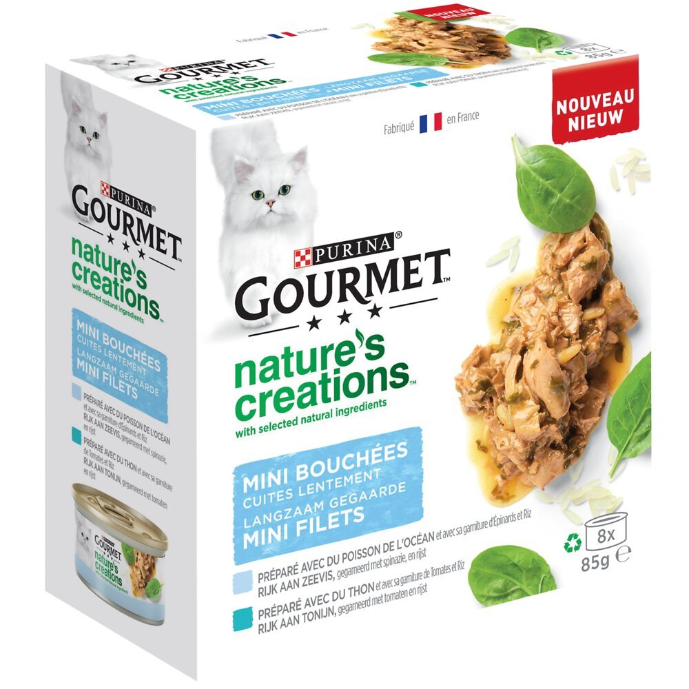 Aliment Chat adulte Nature's Creation, multipack 8x85g
