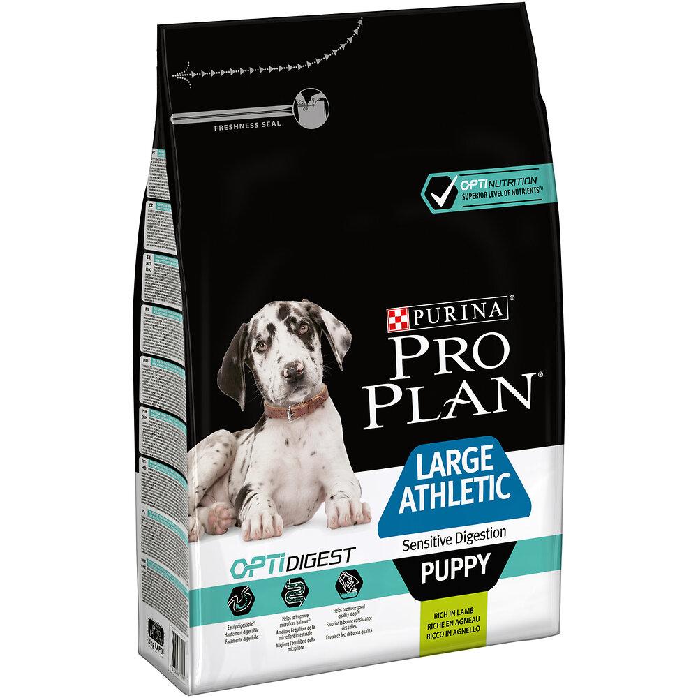 Croquettes Chien Large athetic puppy sensitive digestion, Agneau 3kg