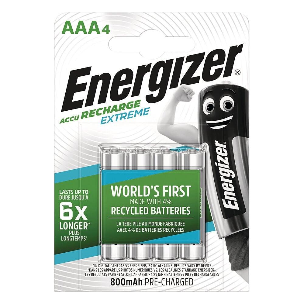 Lot de 4 Piles rechargeables AAA/LR3 800mAh HR03 Extrême