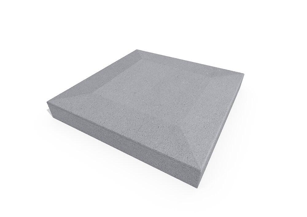 Chapeau pilier gris 40x40