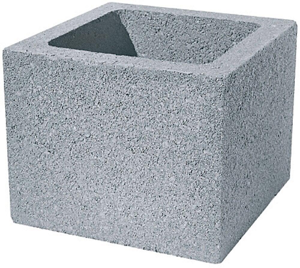 Elément de pilier gris 40x40x20 à enduire