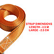 Sangle bagagère L.250xl.2.5cm, orange