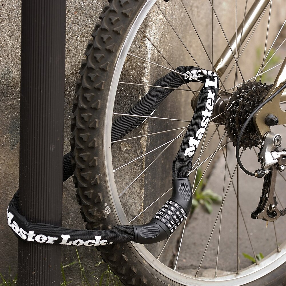 Chaîne antivol vélo à combinaison programmable L.90xd.1cm