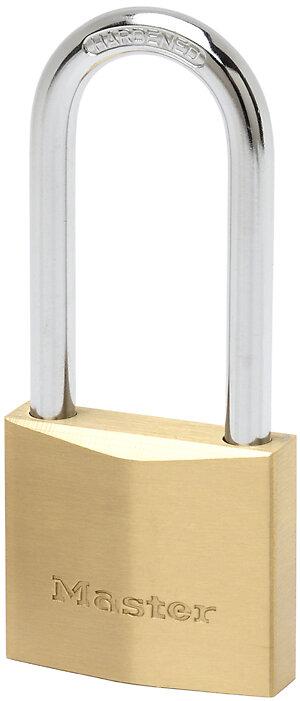 Cadenas à clé laiton massif 50mm anse d.8xh.64mm 6 goupilles