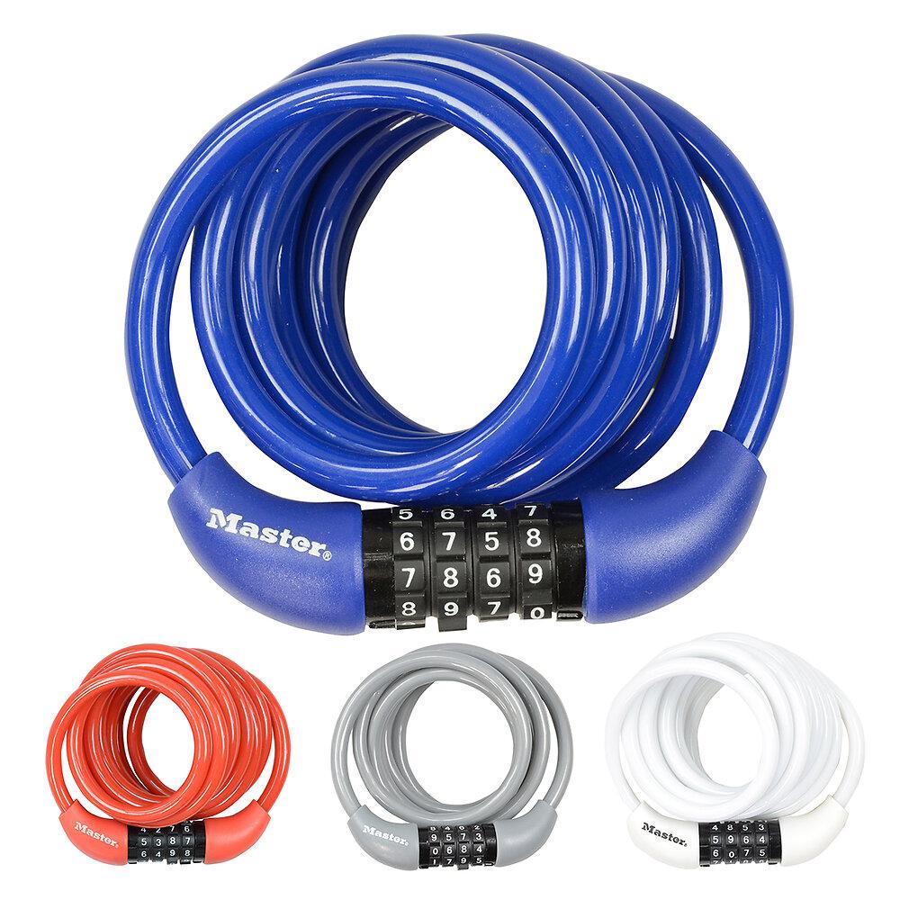 Cable antivol vélo à combinaison L.180xd.0.8cm