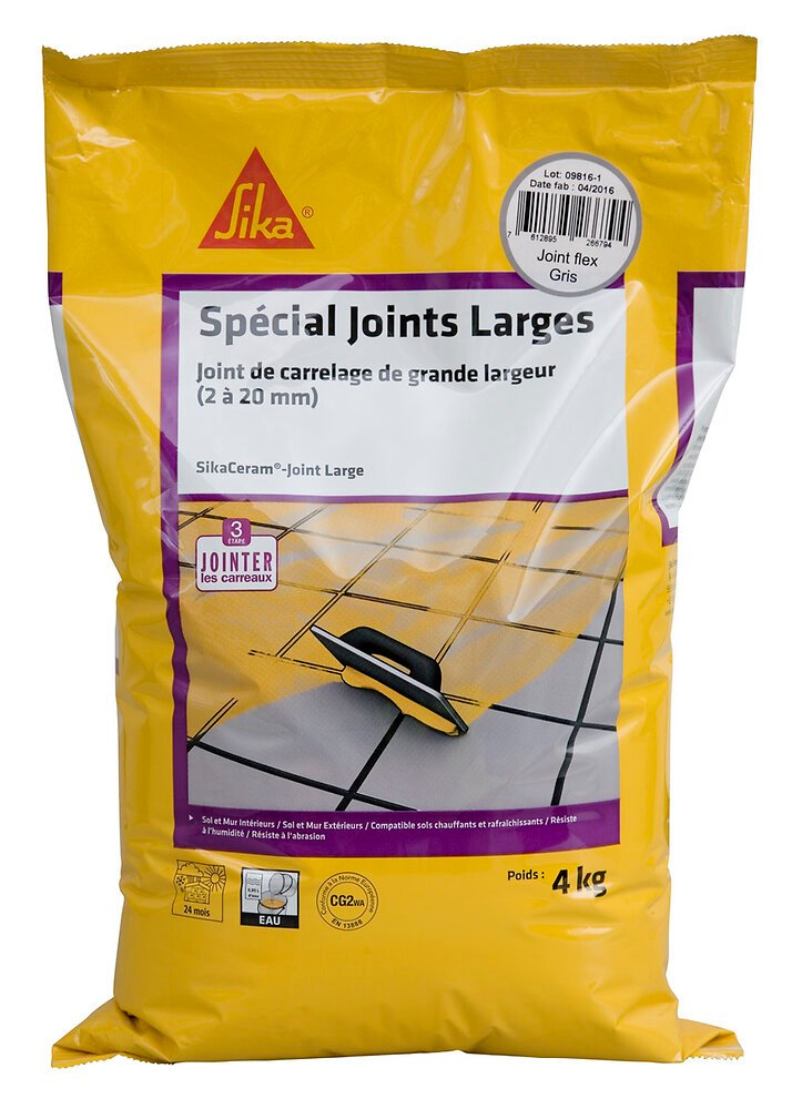 Joint ciment Sikaceram large gris 4kg