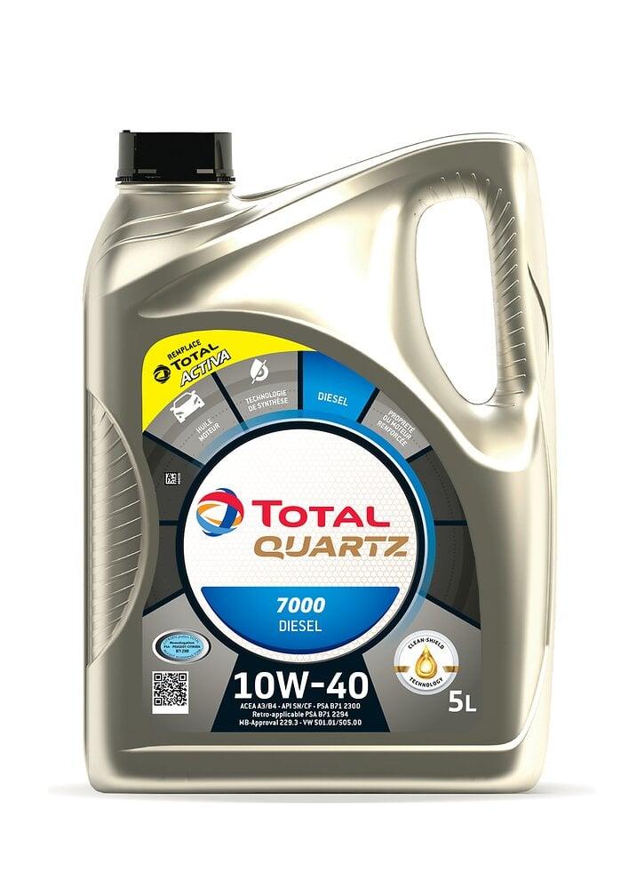 Huile Activa 7000 10W40 Diesel 5L TOTAL
