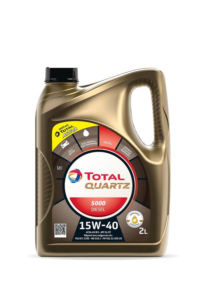 Huile Activa 5000 15W40 Diesel 2L TOTAL