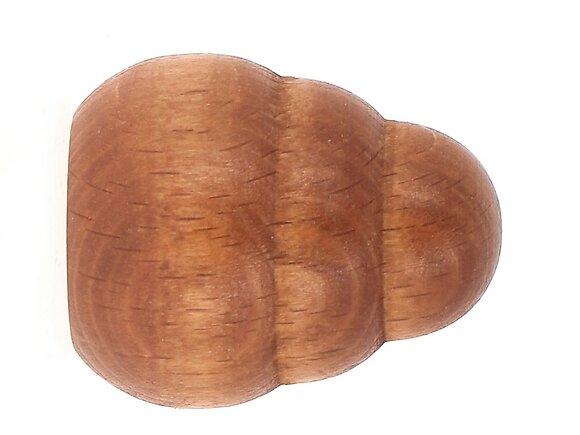 2 embouts tringle à rideaux, gradin diamètre 20mm merisier