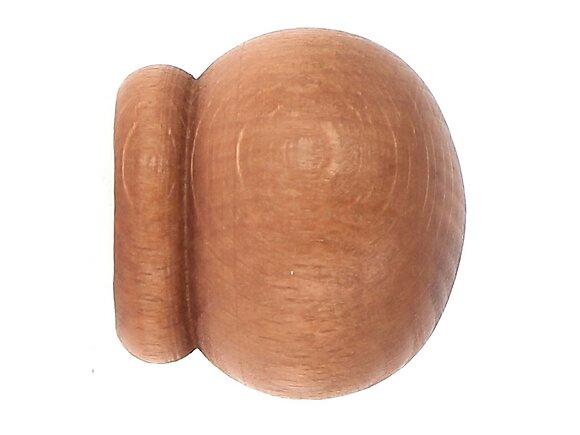 2 embouts tringle à rideaux, anglais diamètre 20mm merisier