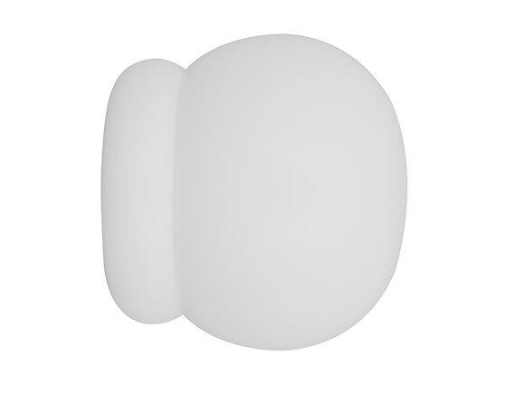 Embout tringle à rideaux, boule massif diamètre 35mm laqué blanc