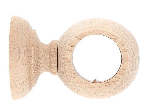 Support de tringle, court diamètre 35mm bois brut
