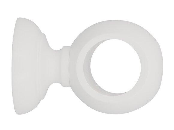 Support de tringle, court diamètre 35mm bois laqué blanc