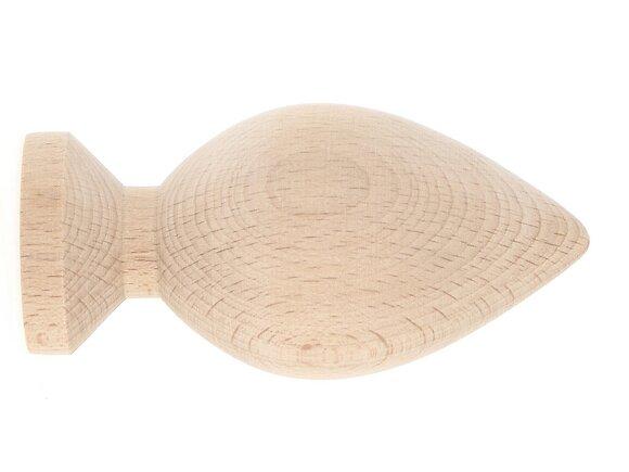 Embout tringle à rideaux, bi-cone diamètre 35mm brut