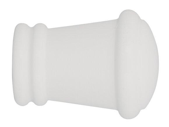2 embouts tringle à rideaux, corona diamètre 20mm laqué blanc