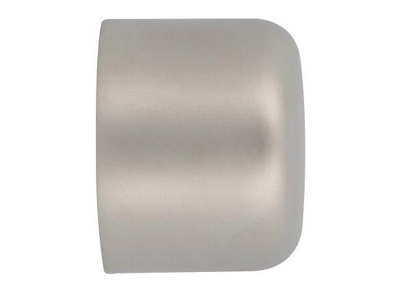 2 embouts tringle à rideaux, bouchon diamètre 28mm chrome mat