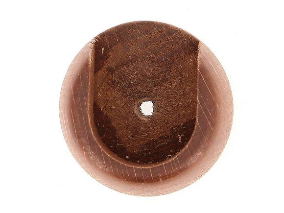 2 naissances de tringle, diamètre 28mm merisier