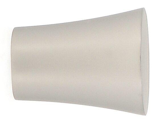 Embout tringle à rideaux, pommeau diamètre 28mm chrome mat