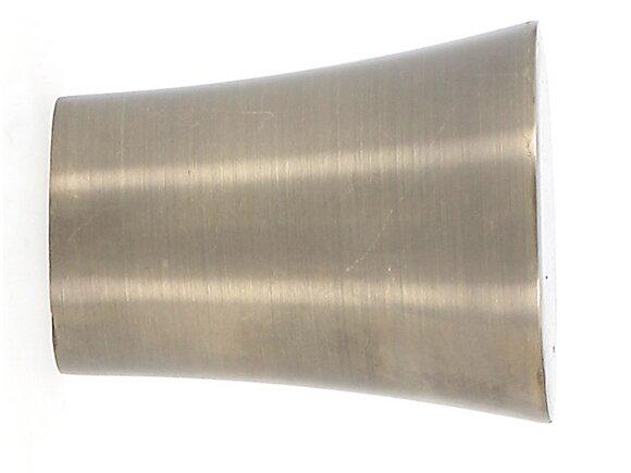 Embout tringle à rideaux, carré diamètre 28mm métal doré vieilli