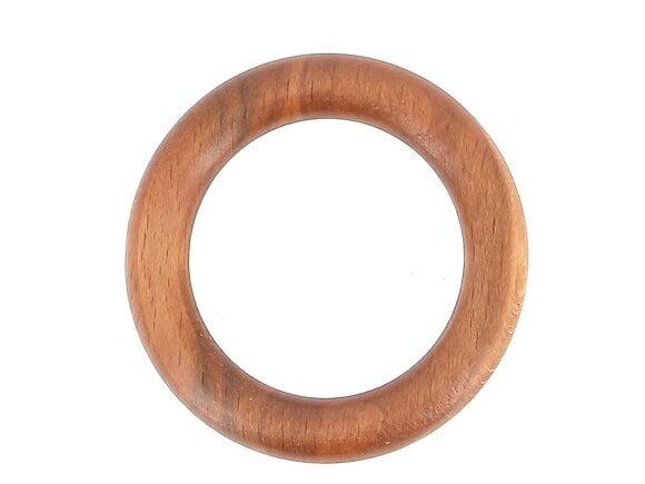 10 anneaux tringle à rideaux, diamètre 56mm bois merisier