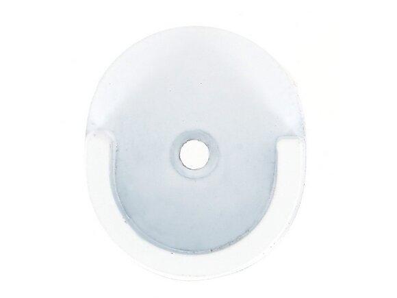 Naissance de tringle, diamètre 28mm métal blanc mat