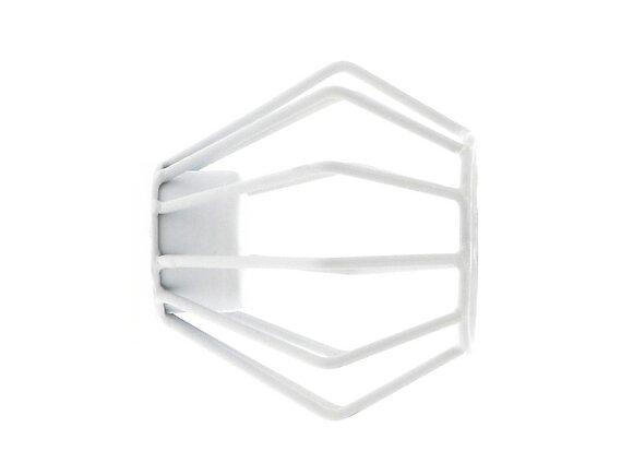 Embout tringle à rideaux, filaire diamètre 28mm métal blanc mat