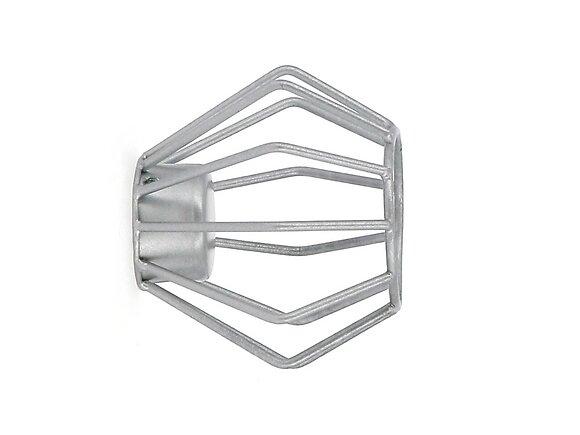 Embout tringle à rideaux, filaire diamètre 28mm métal gris zingue