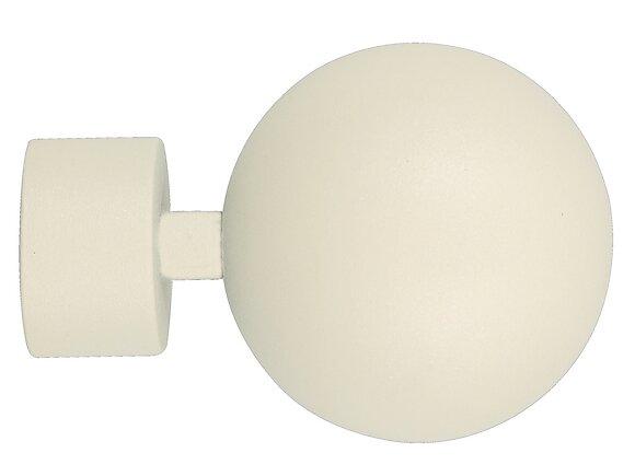 Embout tringle à rideaux, boule diamètre 28mm métal nacre