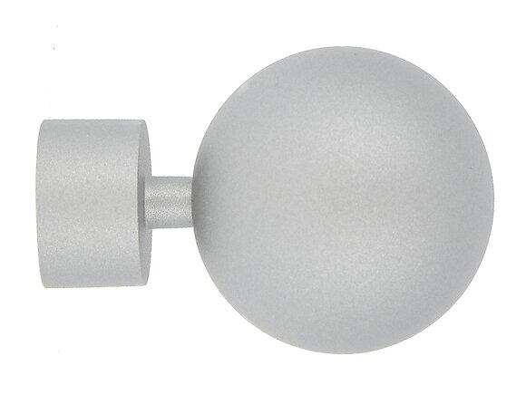 Embout tringle à rideaux, boule diamètre 28mm métal poussière étoile