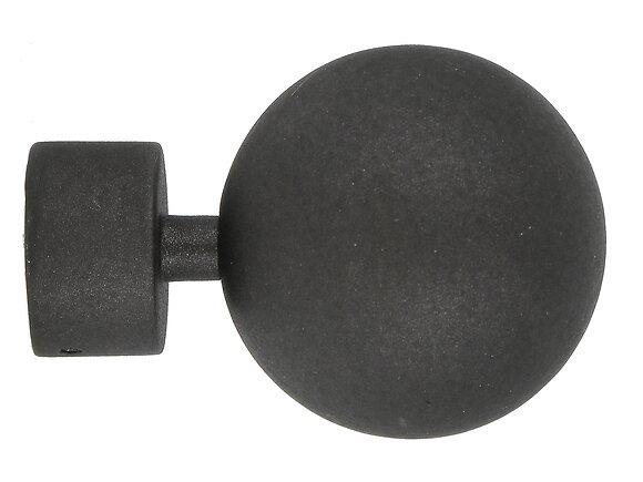 Embout tringle à rideaux, boule diamètre 28mm fonte