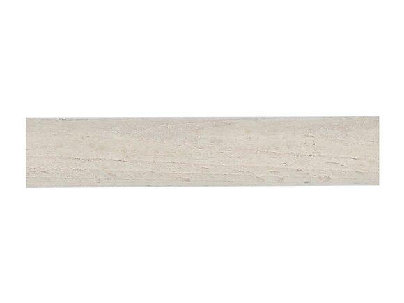 Tringle à rideaux, bois diamètre 28mm Longueur 150cm blanchi